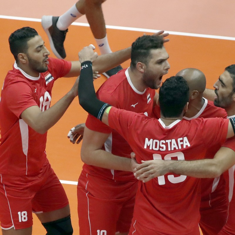 Official FIVB Volleyball Signed by the Egyptian National Volleyball Team