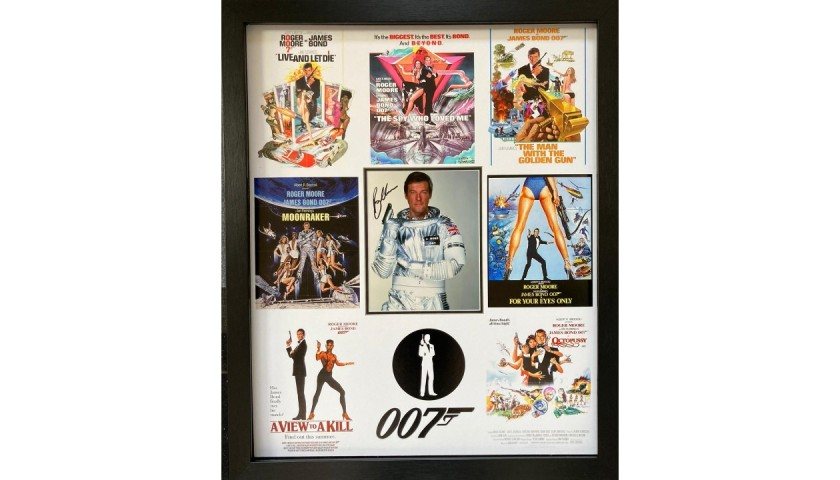 Roger Moore as James Bond, Signed Display