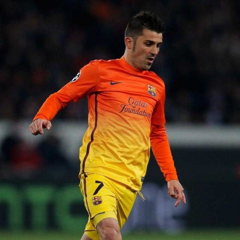 Villa's Official Barcelona Signed Shirt, 2012/13