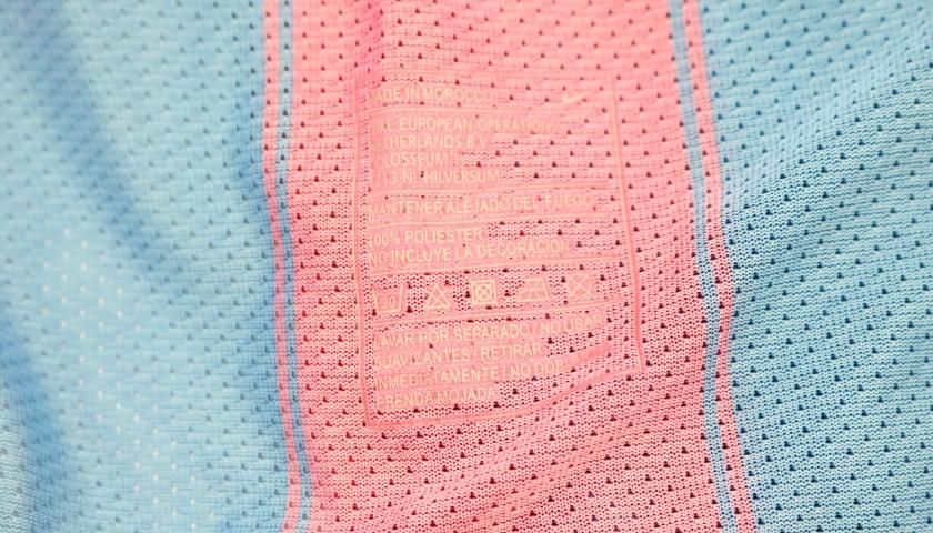 Iniesta's Barcelona Match Shirt, UCL 2009/10