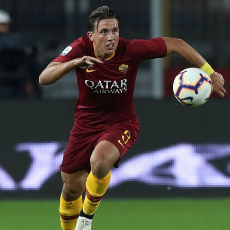 Pellegrini's Worn and Signed Shirt, Roma-Genoa 2018