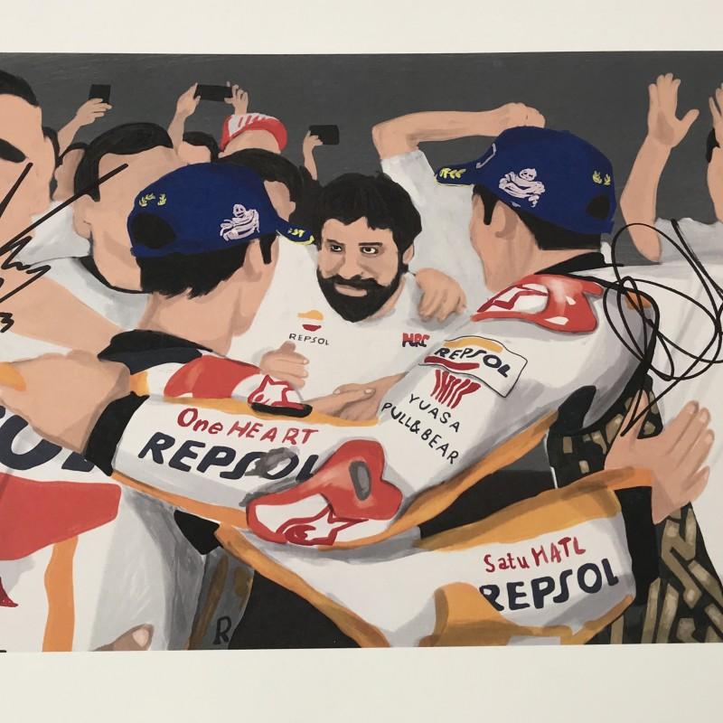 """Dani Pedrosa: Race 18, Valencia"" by Tammy Gorali"