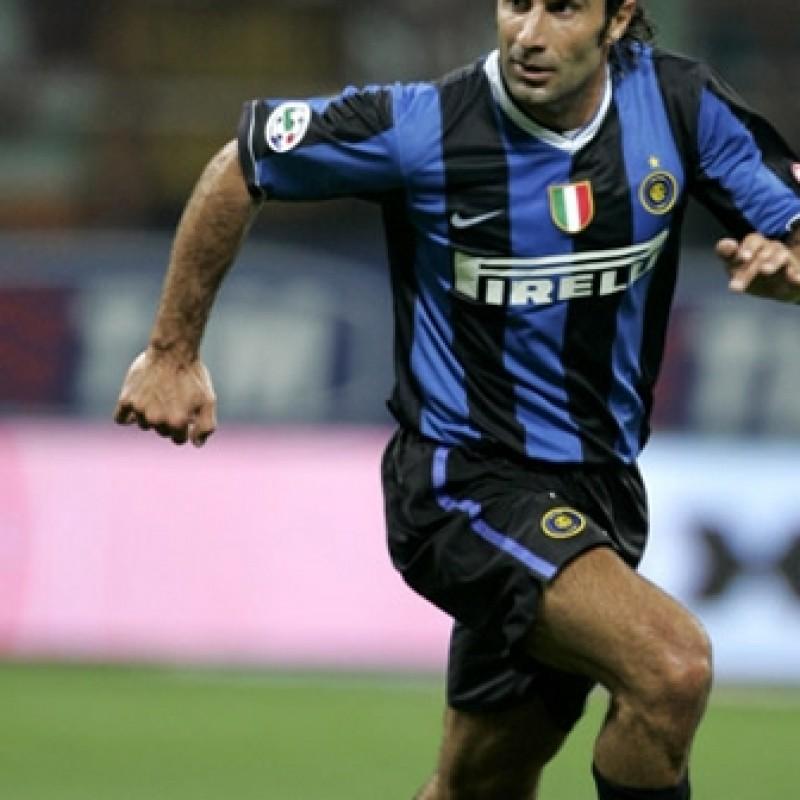 Figo match issued/worn shirt, Inter-Roma SuperCup 2006 - signed