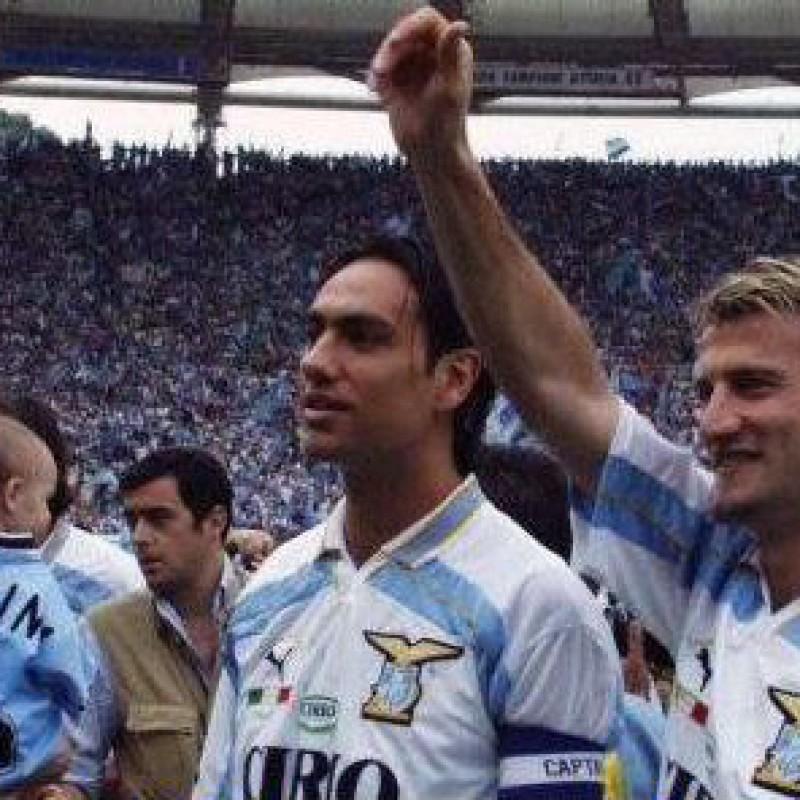 Nesta's Official Lazio Signed Shirt, 1999/00