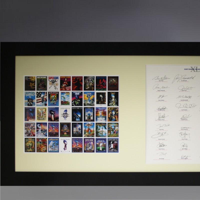Superbowl MVP Framed Signature Art