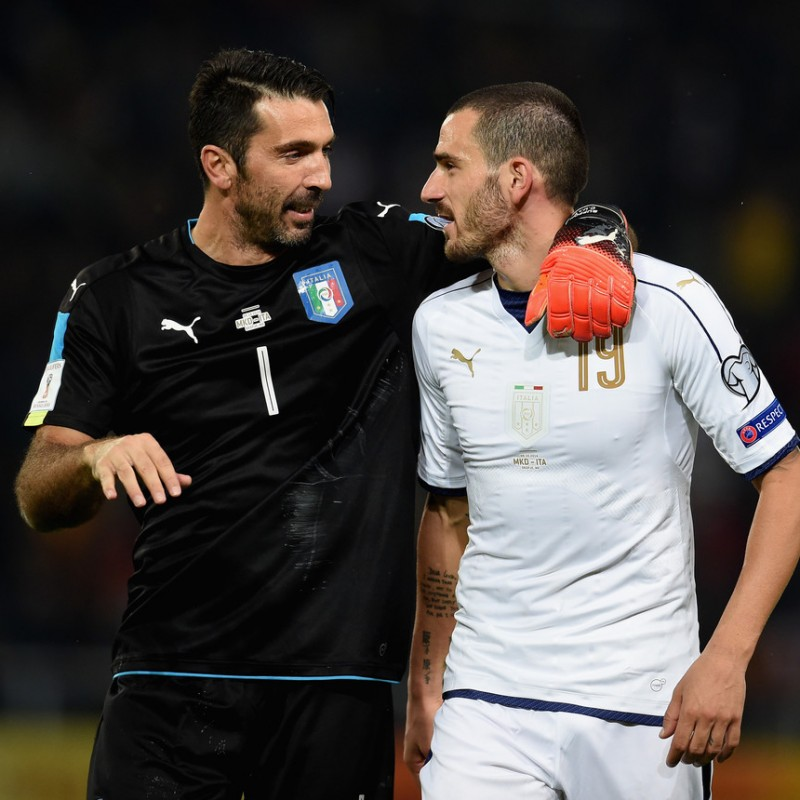 Buffon's Match-Issue/Worn Shirt, Macedonia-Italy 2016