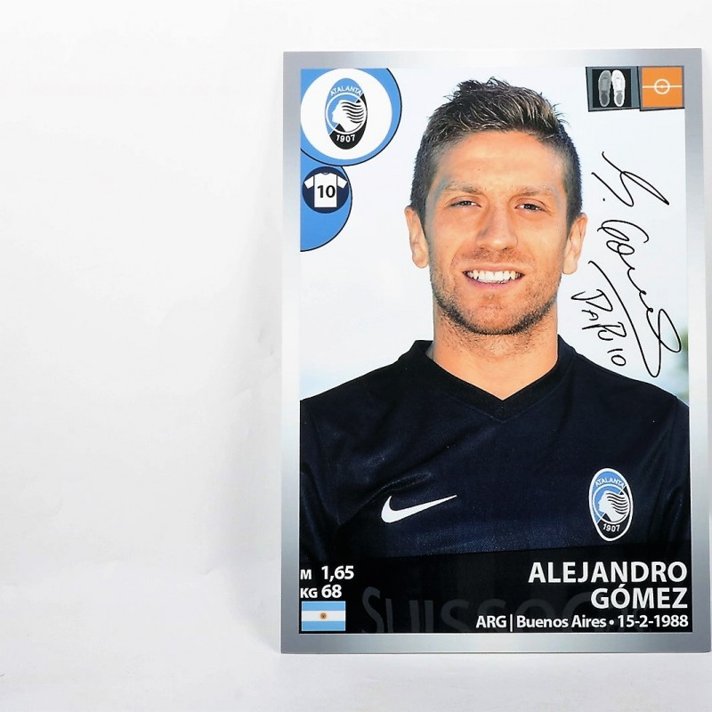 Papu Gomez, Limited Edition Box and Signed Panini Maxi Sticker