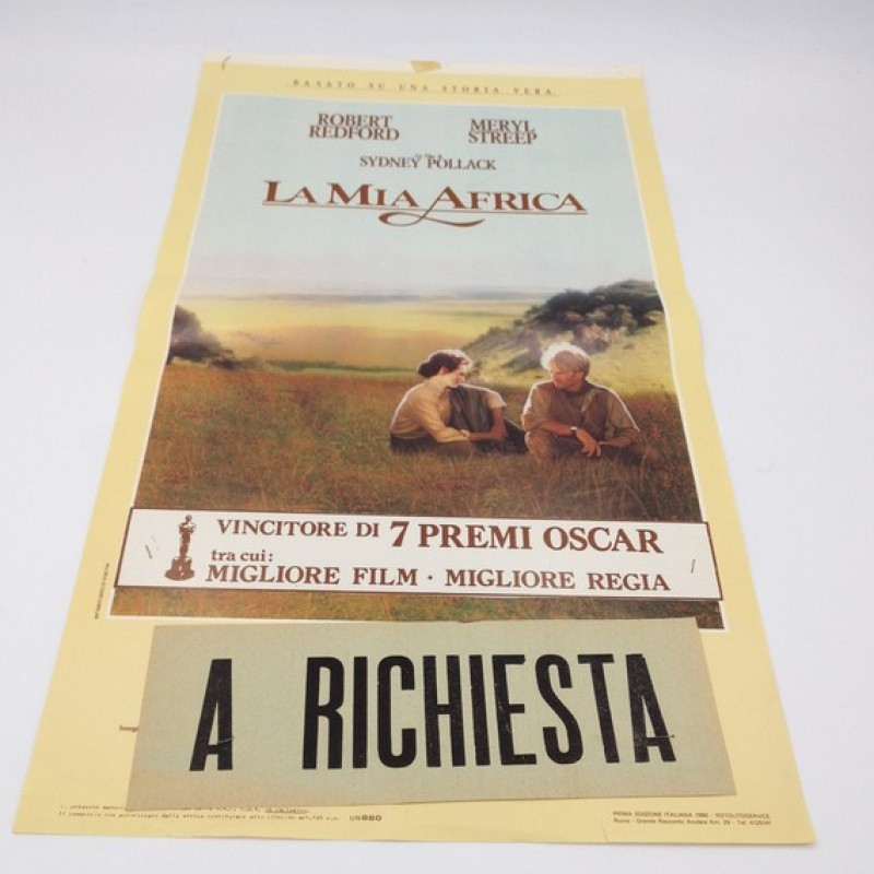 """La mia Africa"" Italian Language Poster, 1986"