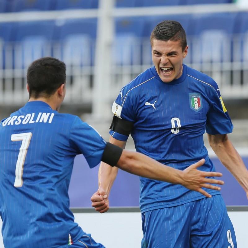 Favilli's Italy Match Shirt, U-20 World Cup