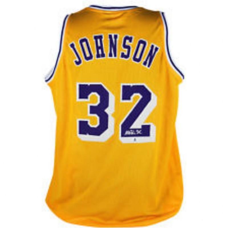 Magic Johnson Signed Lakers Jersey