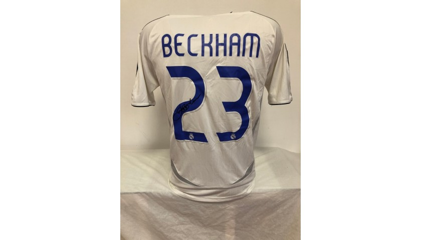 Beckham's Official Real Madrid Signed Shirt, 2006/07
