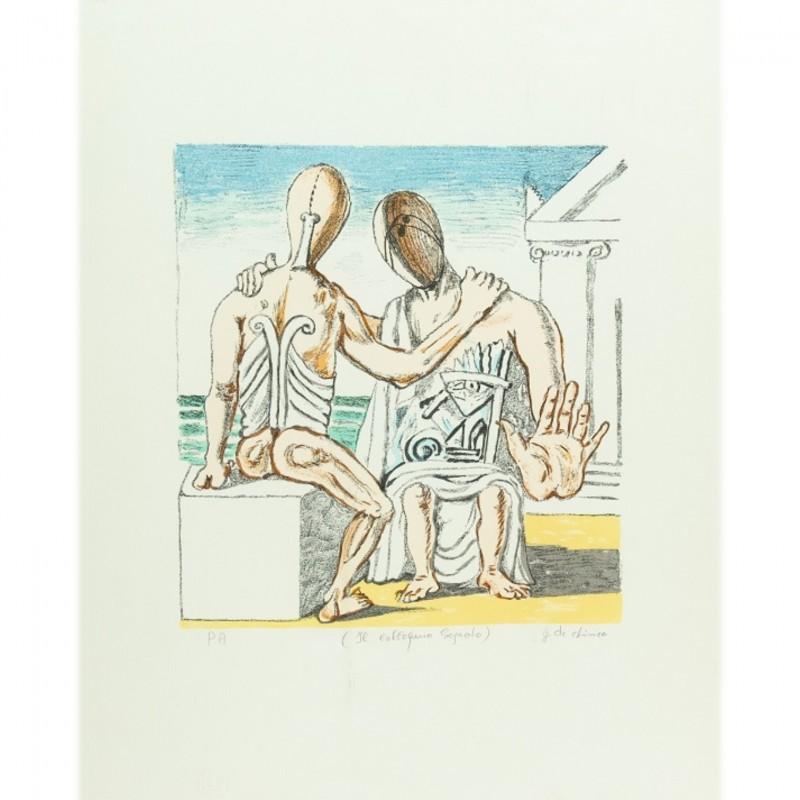"""""""Colloquio Segreto"""" by Giorgio De Chirico"""