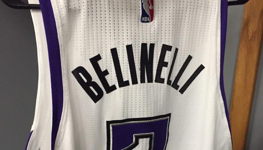 Signed Marco Belinelli Sacramento Kings shirt