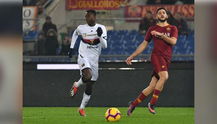 Manolas' Worn and Signed Shirt, Roma-Genoa 2018