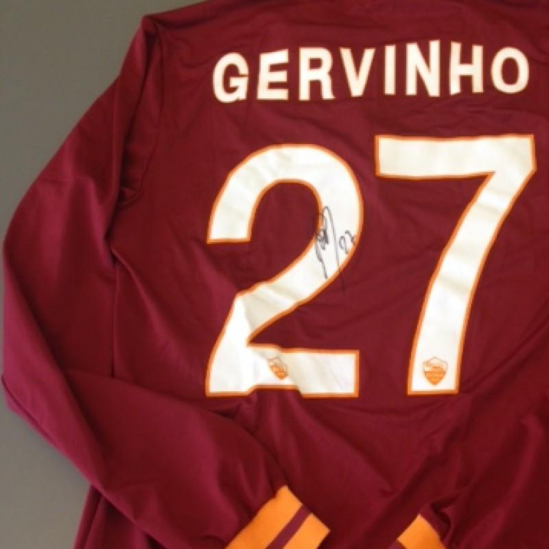 Roma fanshop shirt, Gervinho, Serie A 2013/2014 - signed