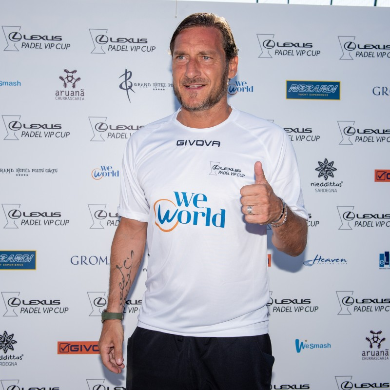 Totti's Lexus Padel Vip Cup Worn and Signed Shirts