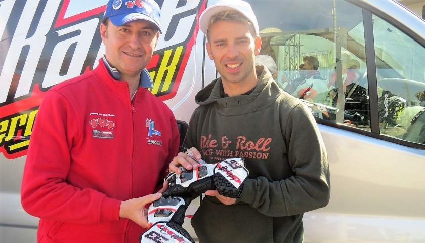 Marco Melandri's Worn and Signed SPD Gloves, 2017 Thailand GP