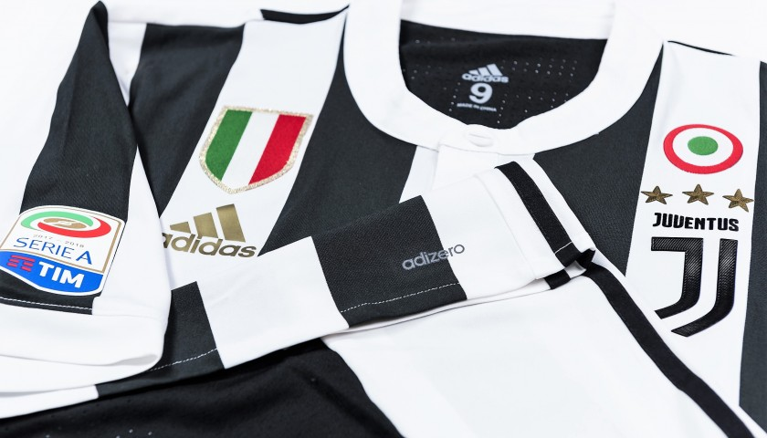Higuain's Match-Issued/Worn 2017/18 Juventus Shirt – Signed