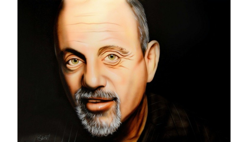 Billy Joel Hand Painted Portrait