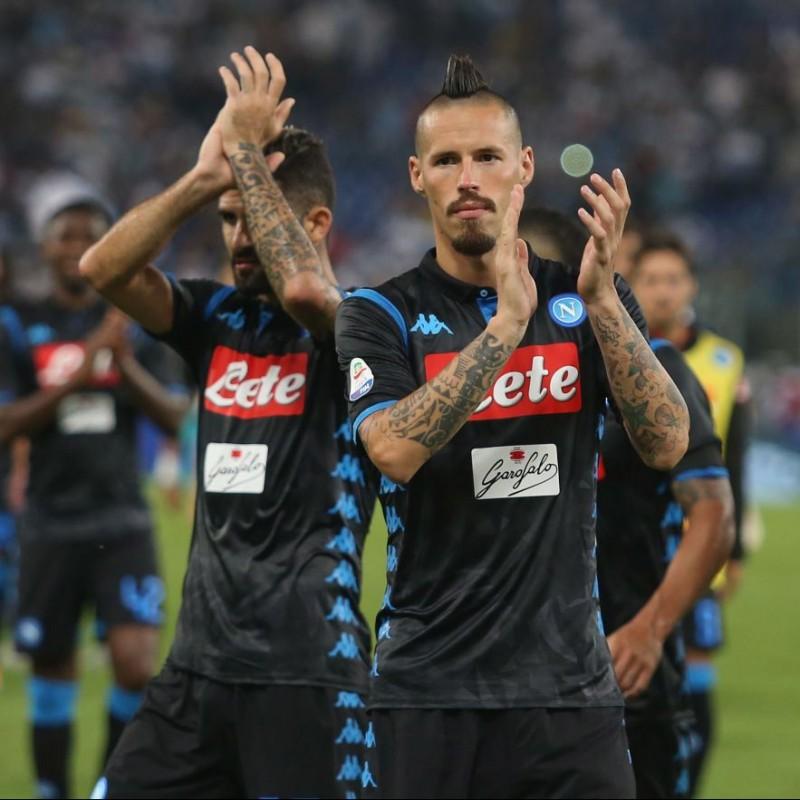 Hamsik's Match-Issue Shirt, Lazio-Napoli 2018