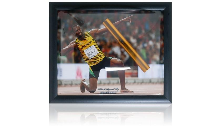 Usain Bolt Signed Gold Baton