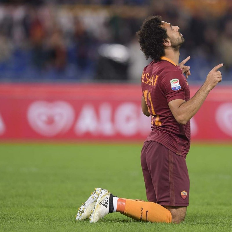 Salah Match Issued Shirt, Juventus-Roma 17/12/16 - Special Telethon Sponsor