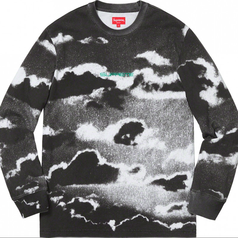 Cloud L/S White Sweatshirt - Supreme S/S 2019 Collection