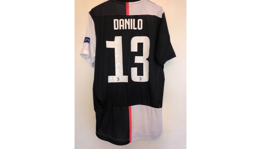 Danilo's Juventus Worn and Unwashed Shirt, UCL 2019/20
