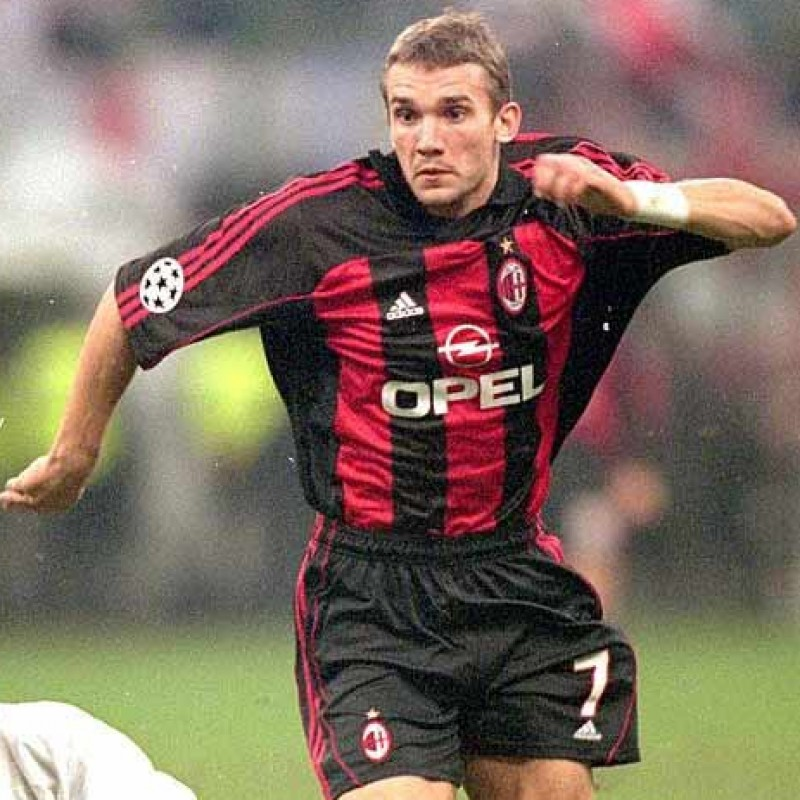 Shevchenko's Official Milan Signed Shirt, 2000/01