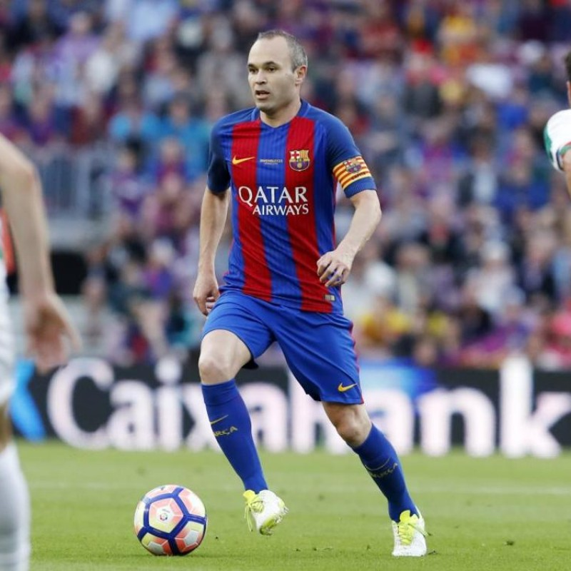 Iniesta's Match Shirt, Barcelona-Eibar - #Wembley25