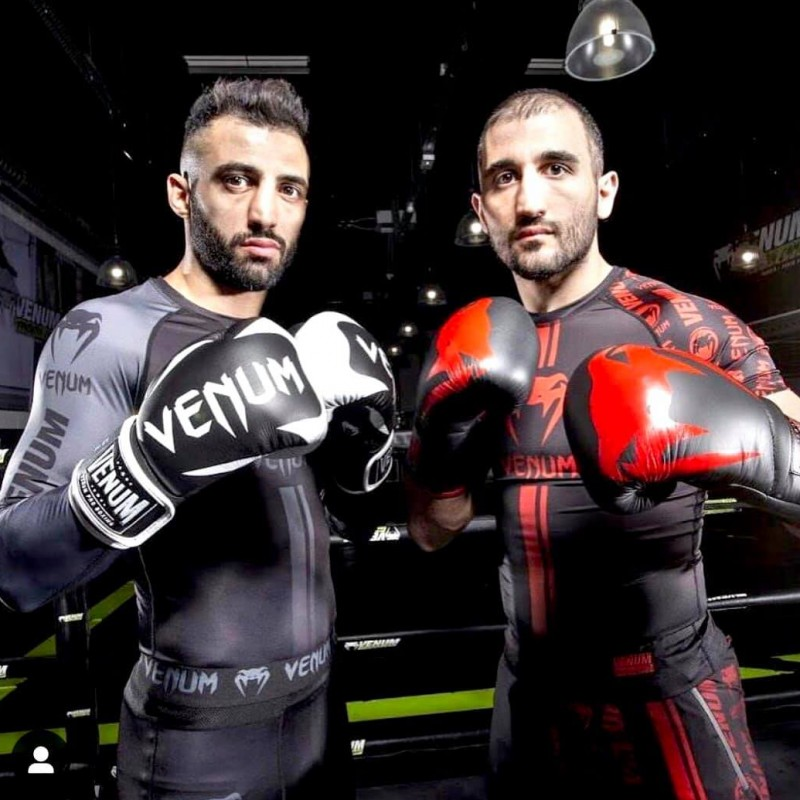 Kickboxing Glove Signed by Champions Armen and Giorgio Petrosyan