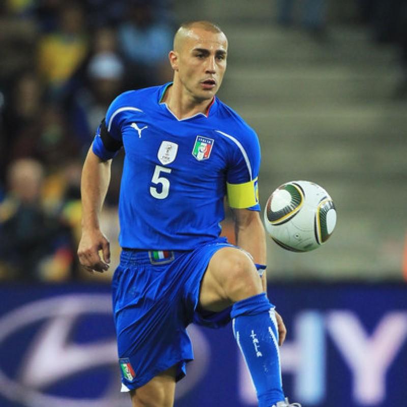 Cannavaro's Italy Match Shirt, World Cup 2010