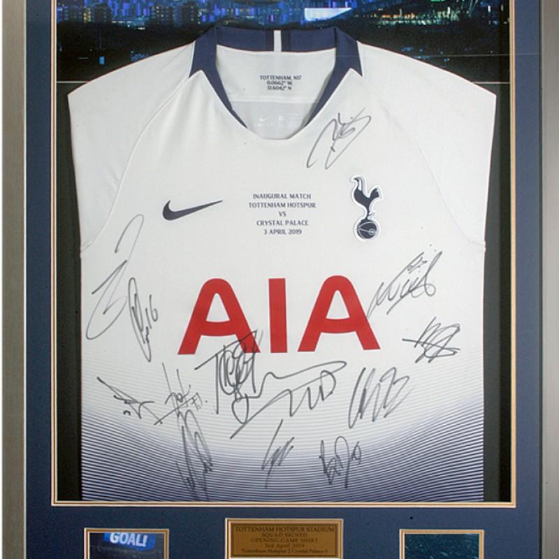 Tottenham Hotspur Stadium Inaugural Match Squad Signed Shirt