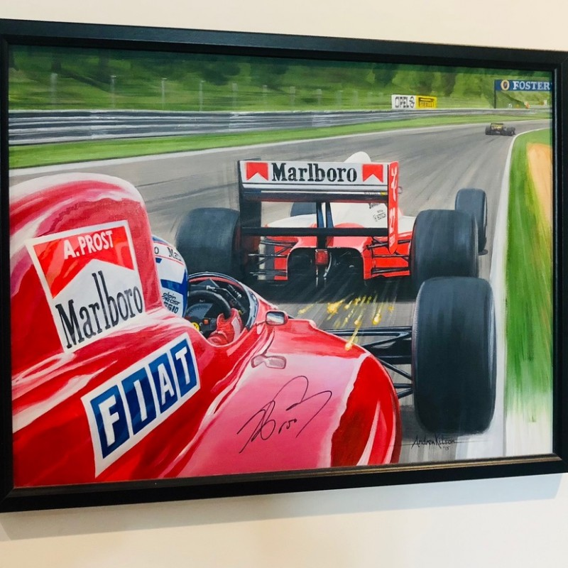 Signed Alain Prost and Ayrton Senna Original Art