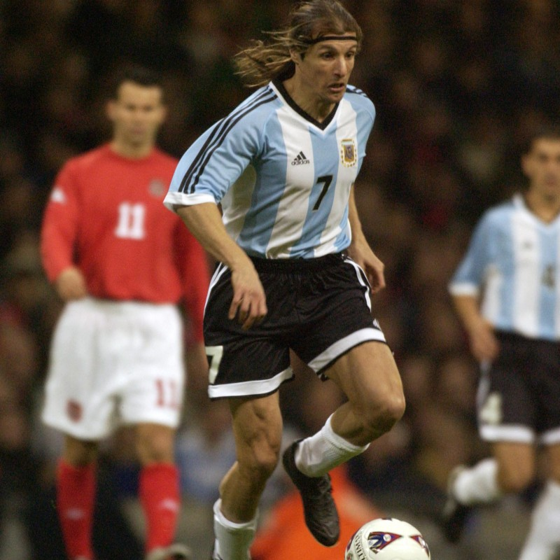 Caniggia's Official Argentina  Signed Shirt, 2002