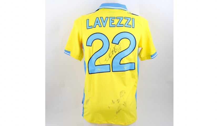 Lavezzi's Napoli Worn and Signed Shirt, 2011/12