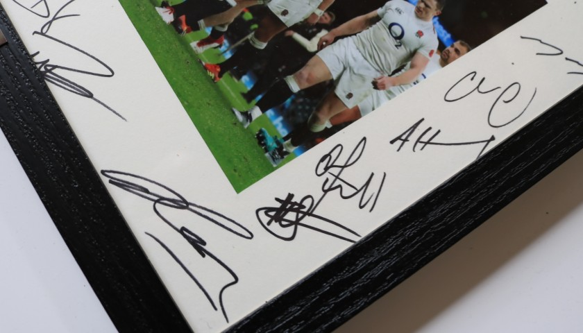 Signed and Framed England Rugby Team Photograph