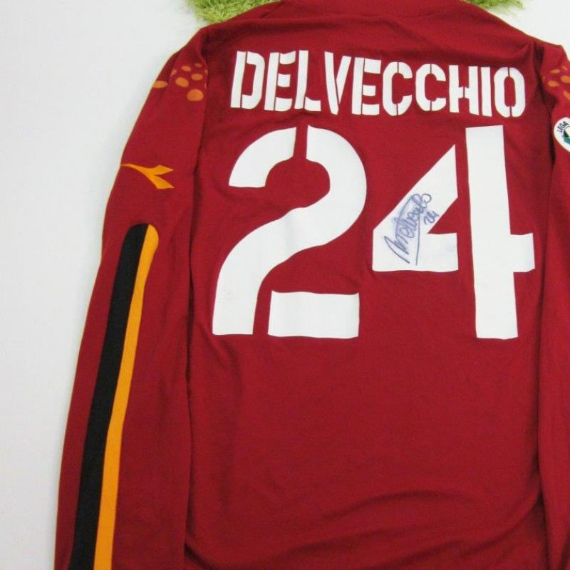 Delvechio Roma match worn shirt Serie A 2003/2004, signed