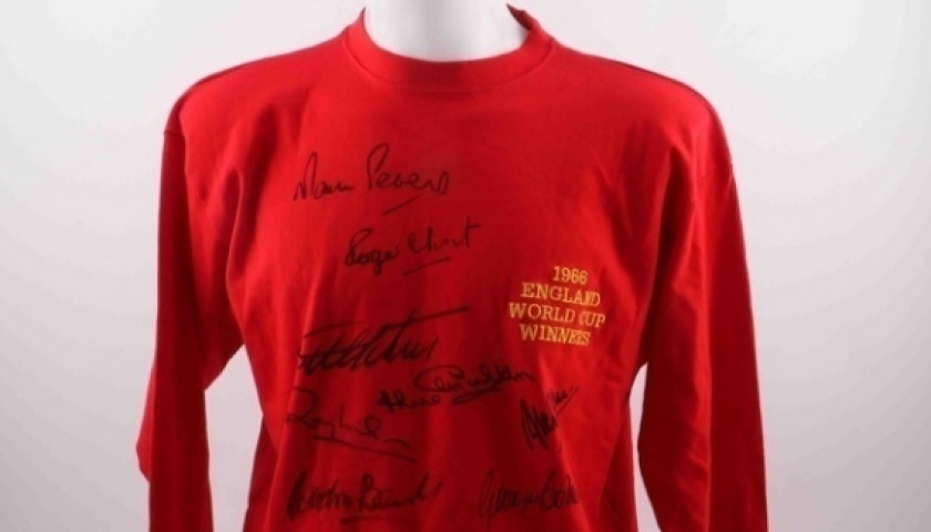 England 1966 Shirt Signed by 10 World Champions
