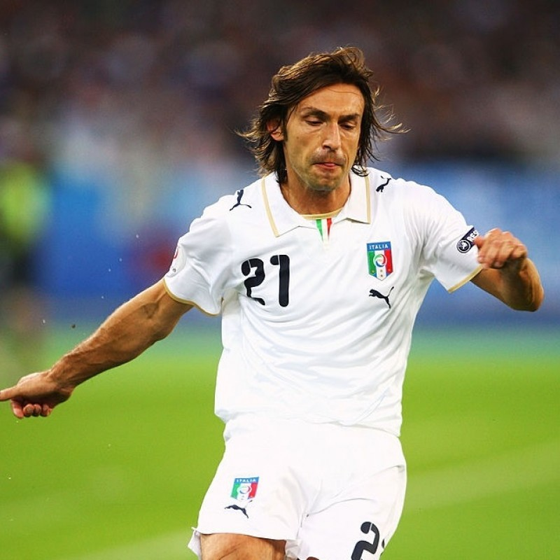 Pirlo's Official Italy Match Shirt, 2007/08