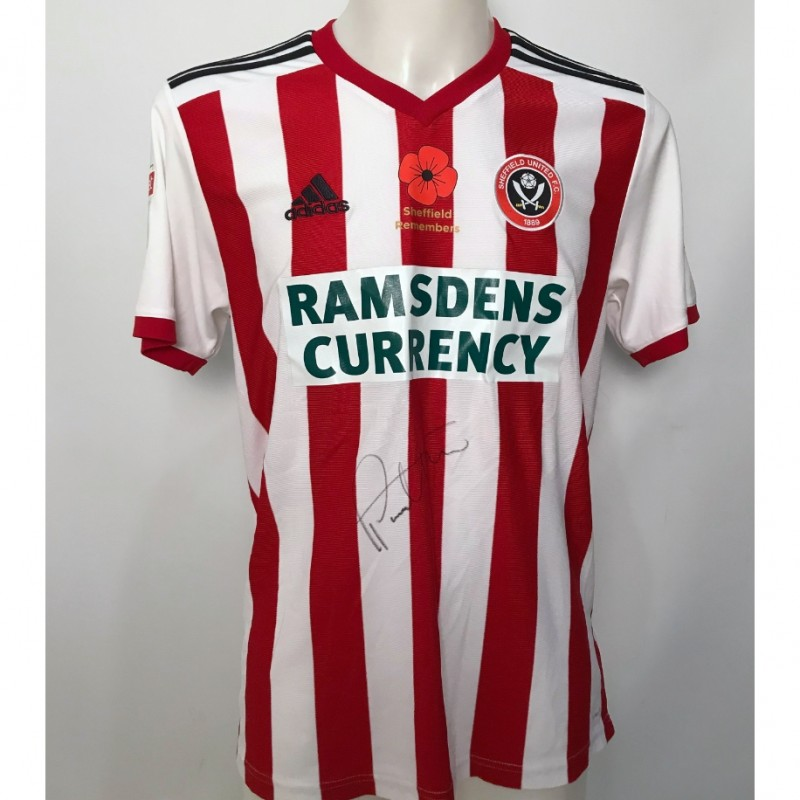 Paul Coutts' Sheffield United Signed Poppy Home Shirt