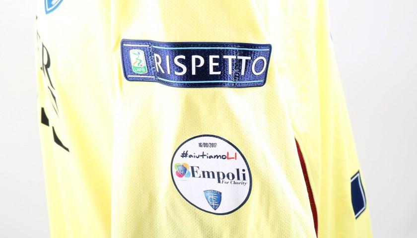 Terracciano's Match-Worn Shirt from Empoli-Ascoli with a Special #AiutiamoLI Patch