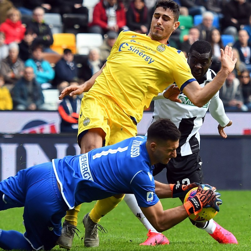 Faraoni's Worn and Signed Shirt, Udinese-Verona 2020