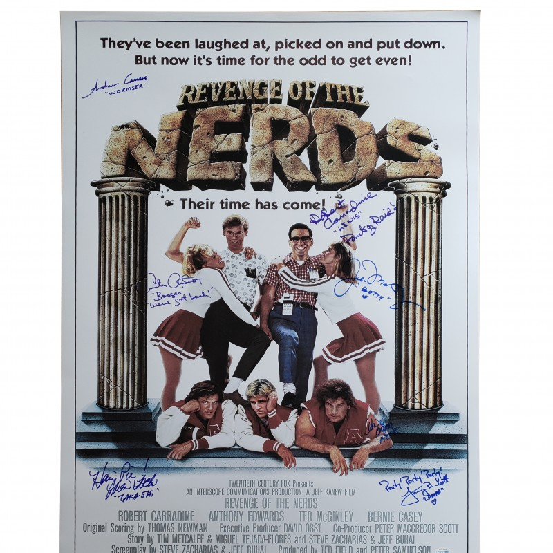 """The Revenge of The Nerds"" Cast Signed Poster"