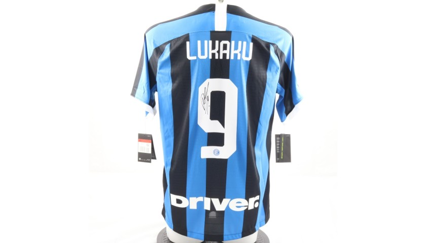 Lukaku's Authentic Inter Signed Shirt, 2019/20