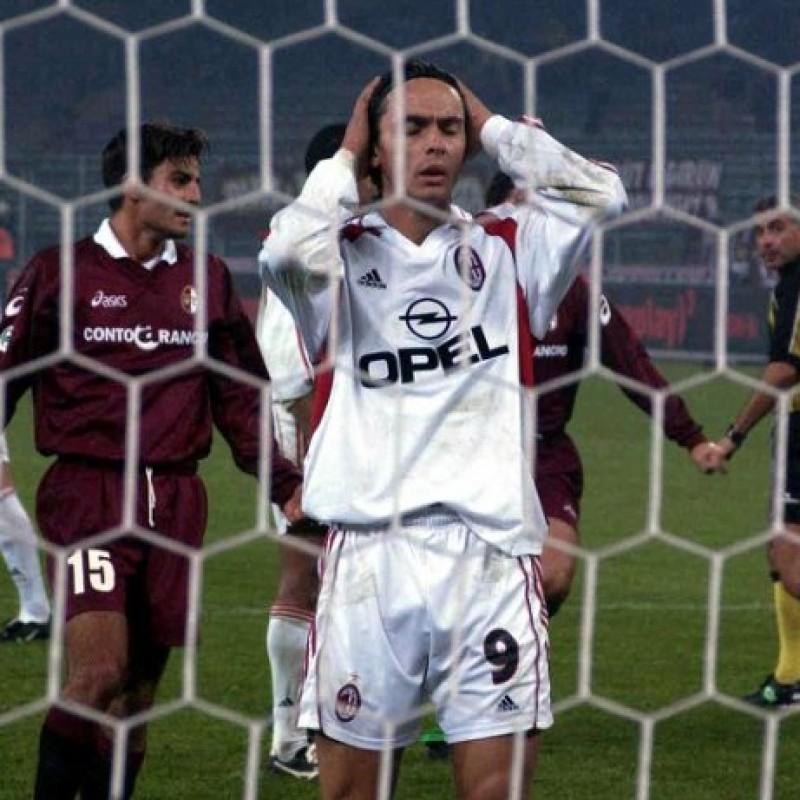 Inzaghi's Milan Match Shirt, Serie A 2001/02