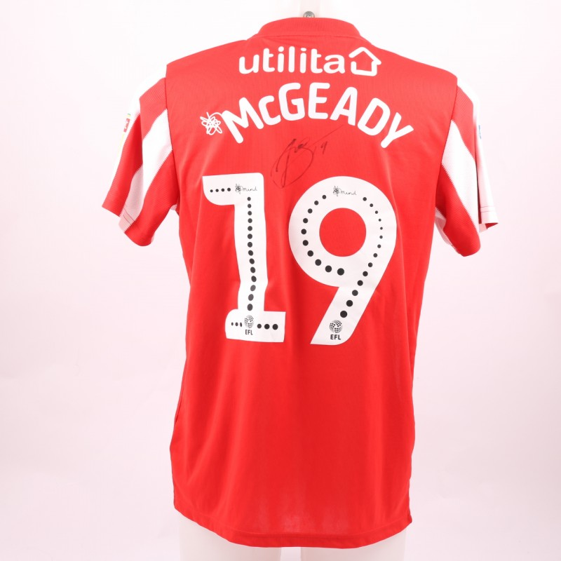 5dd394582 McGeady s Sunderland AFC Worn and Signed Poppy Shirt