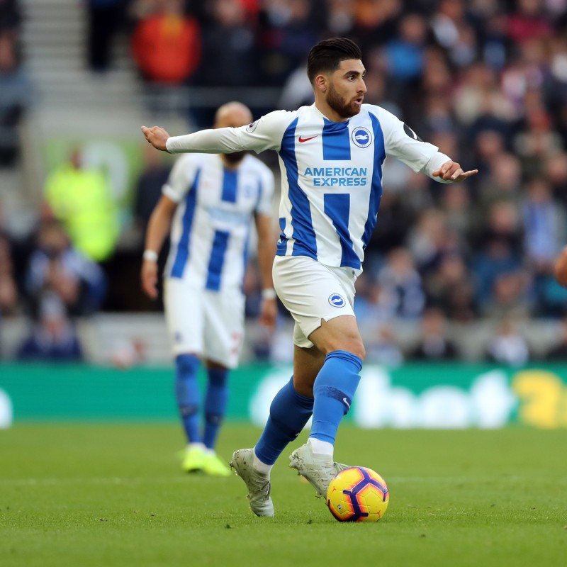 Brighton & Hove Albion Match-Issued Shirt Signed by Alireza Jahanbakhsh