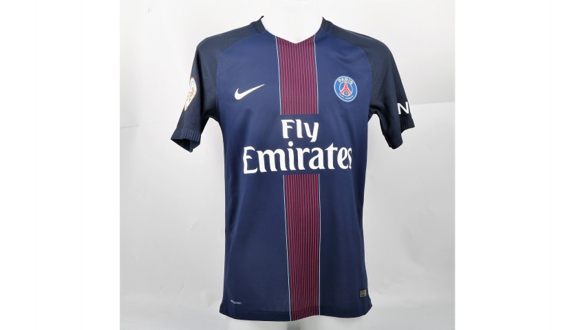 timeless design 63a76 be9d0 Draxler's PSG Shirt, Issued/Worn 2016/17 - CharityStars