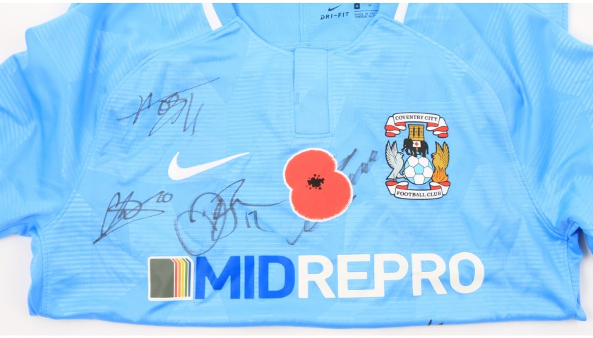 Coventry City Official Poppy Shirt Signed by the Team